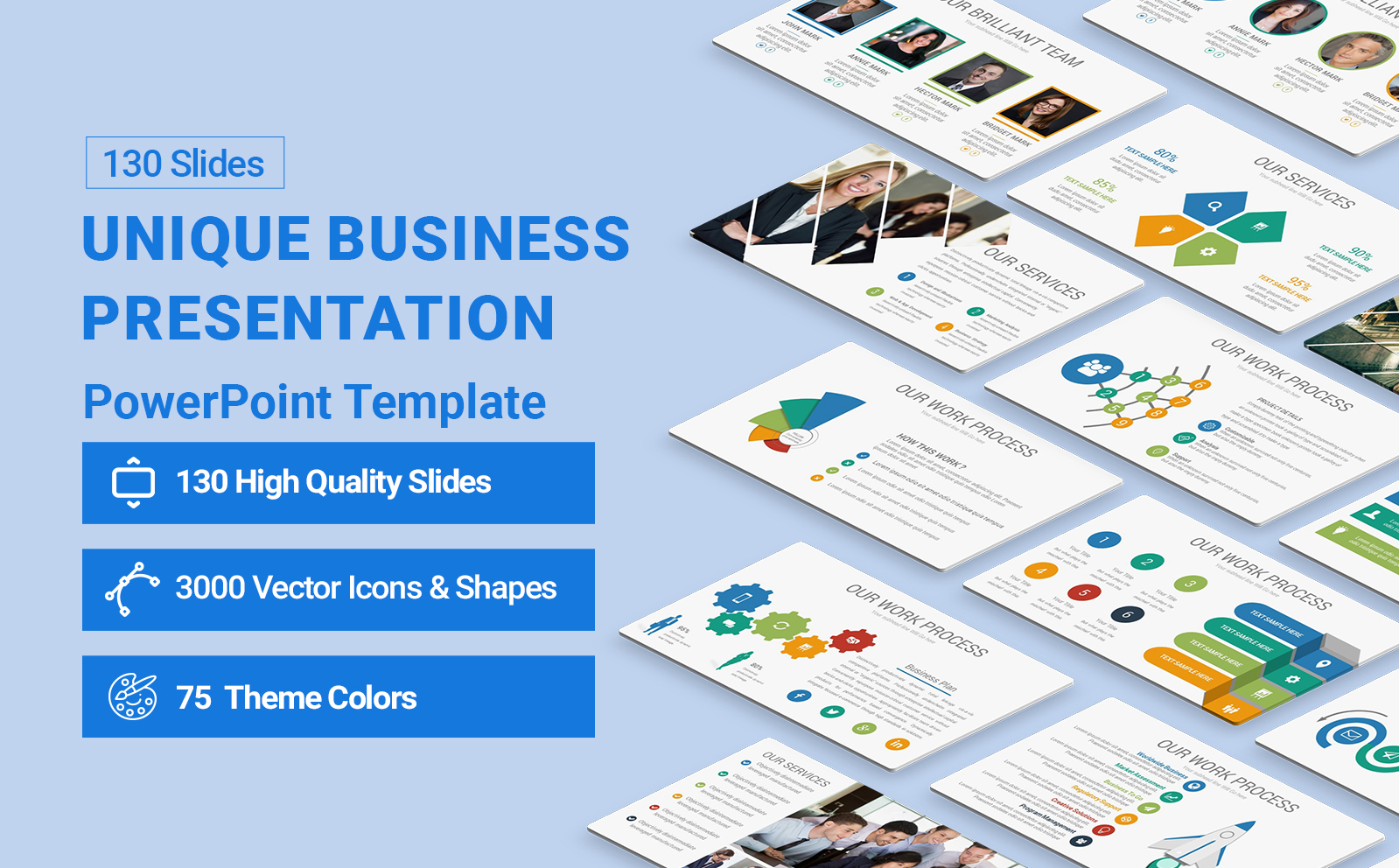 Unique Business  Presentation PowerPoint Template