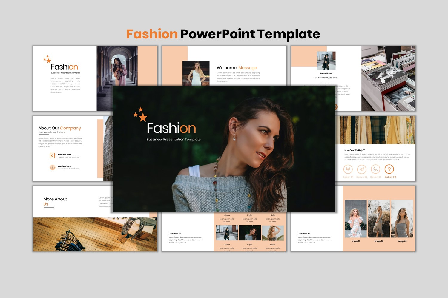 Fashion - Creative Business PowerPoint Template