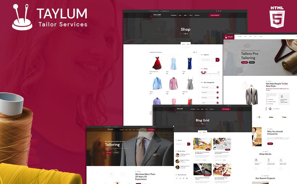 Taylum stylish custom clothing tailor Website Template
