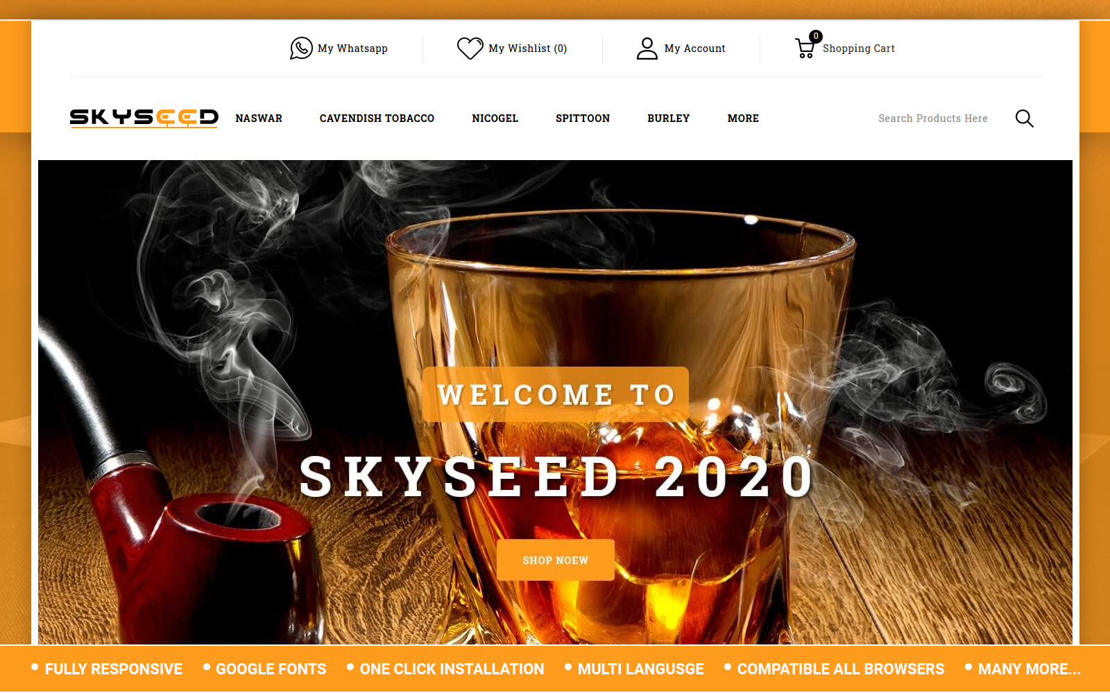 Skyseed - Tobacco Store OpenCart Template