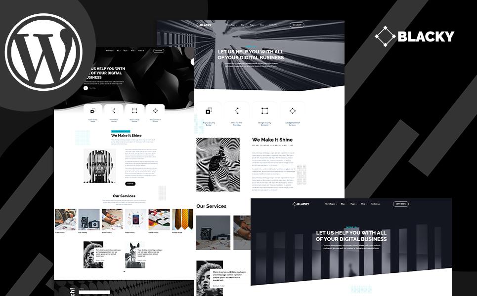 Blacky Minimal Dark Digital Agency WordPress Theme