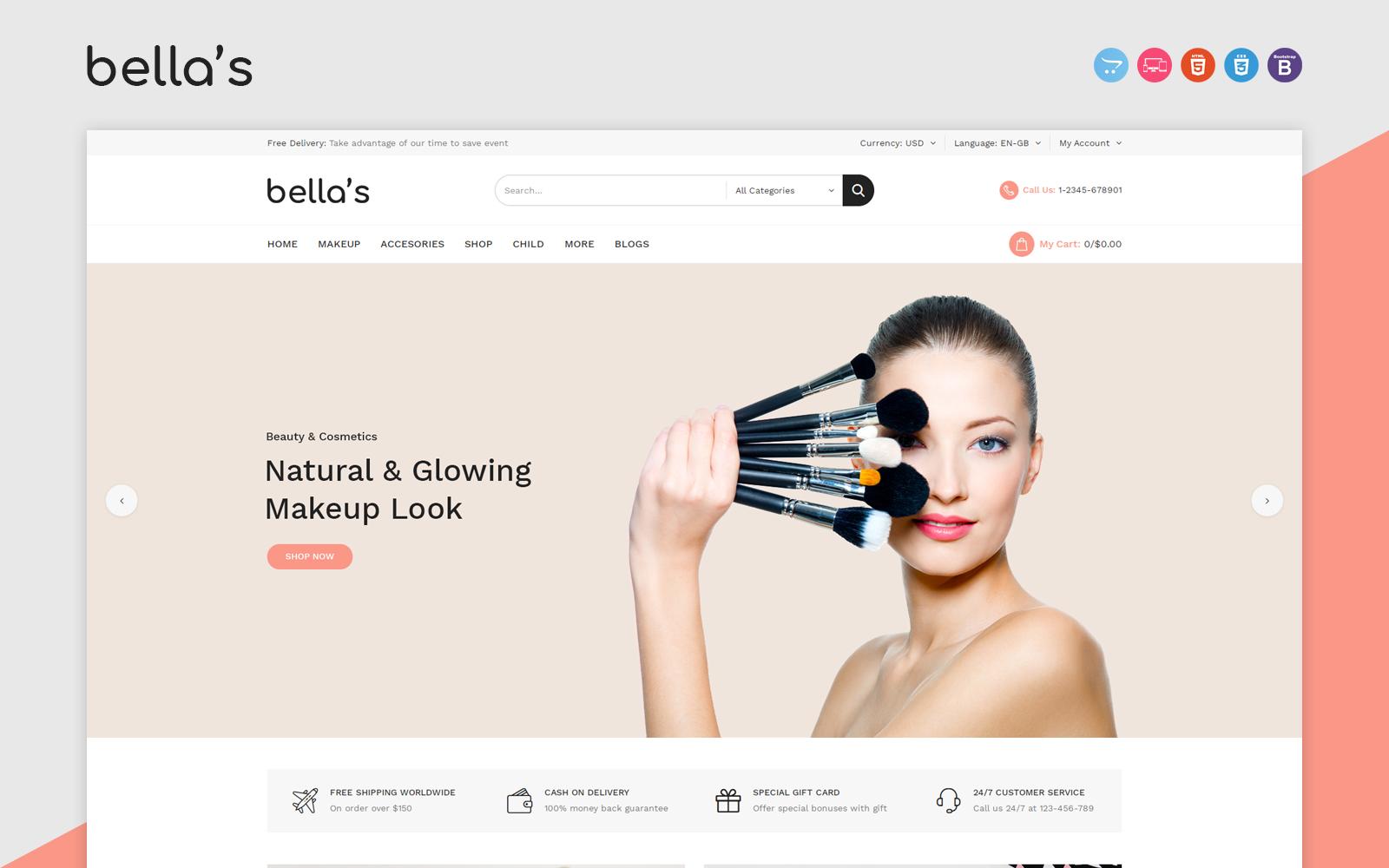 Bellas - Cosmetics OpenCart Template