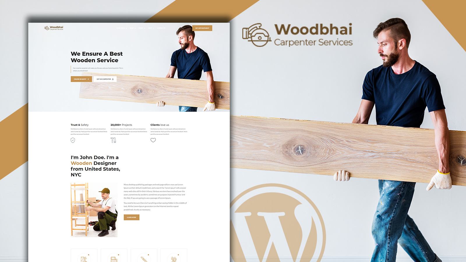 Woodbhai - Carpenter Service and Shop WooCommerce Theme