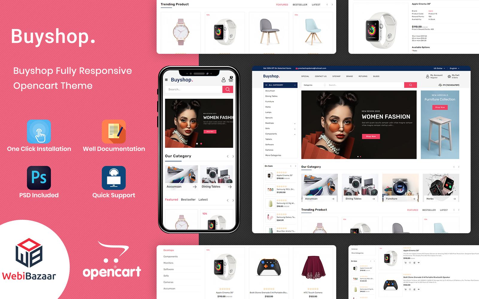 BuyShop - Multipurpose Responsive OpenCart Template