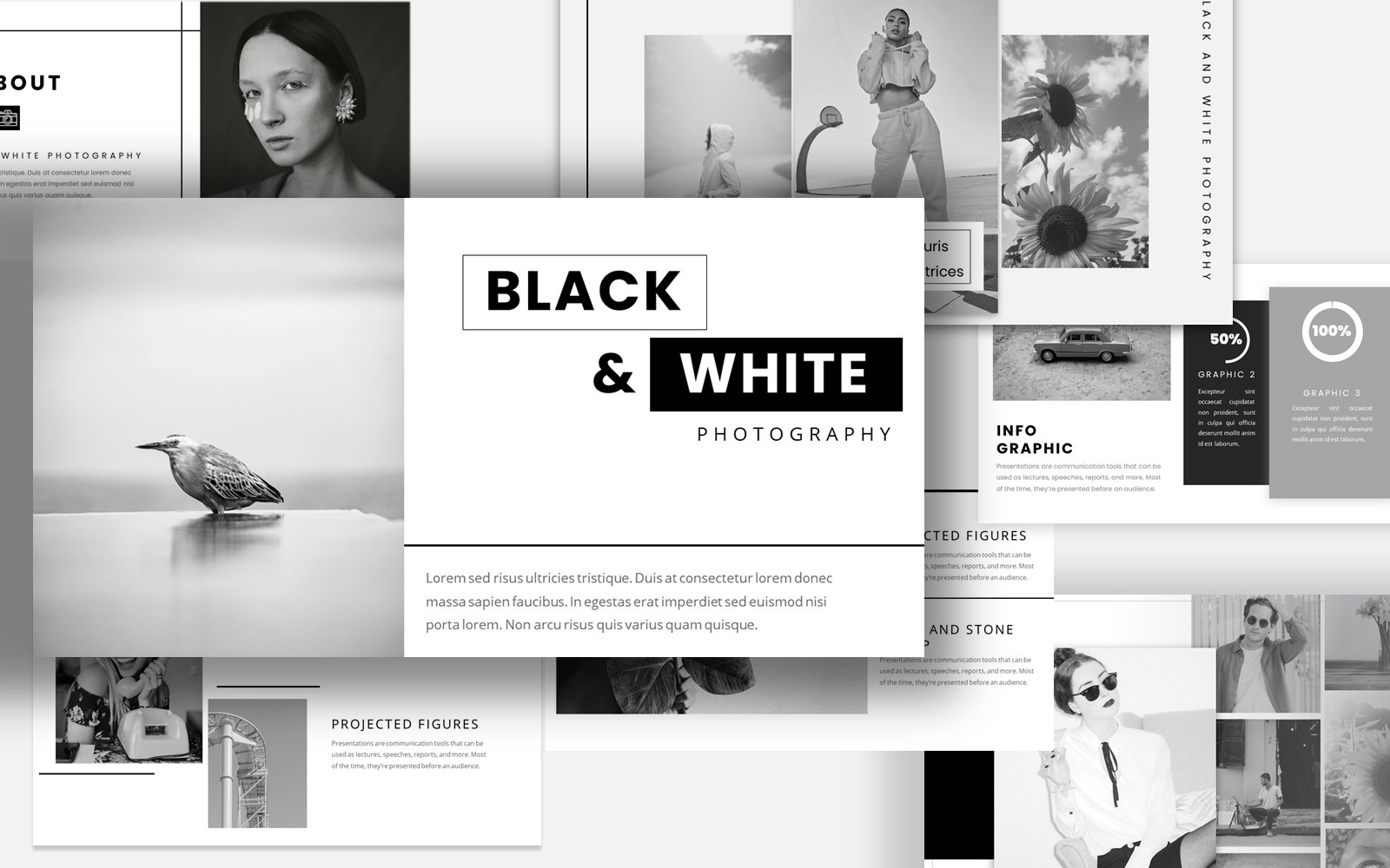 Black & White Themes PowerPoint Template