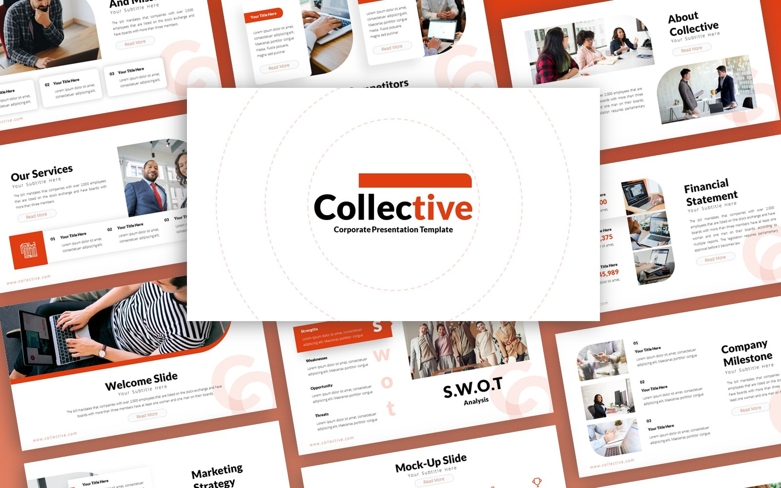 Collective Corporate Presentation PowerPoint Template