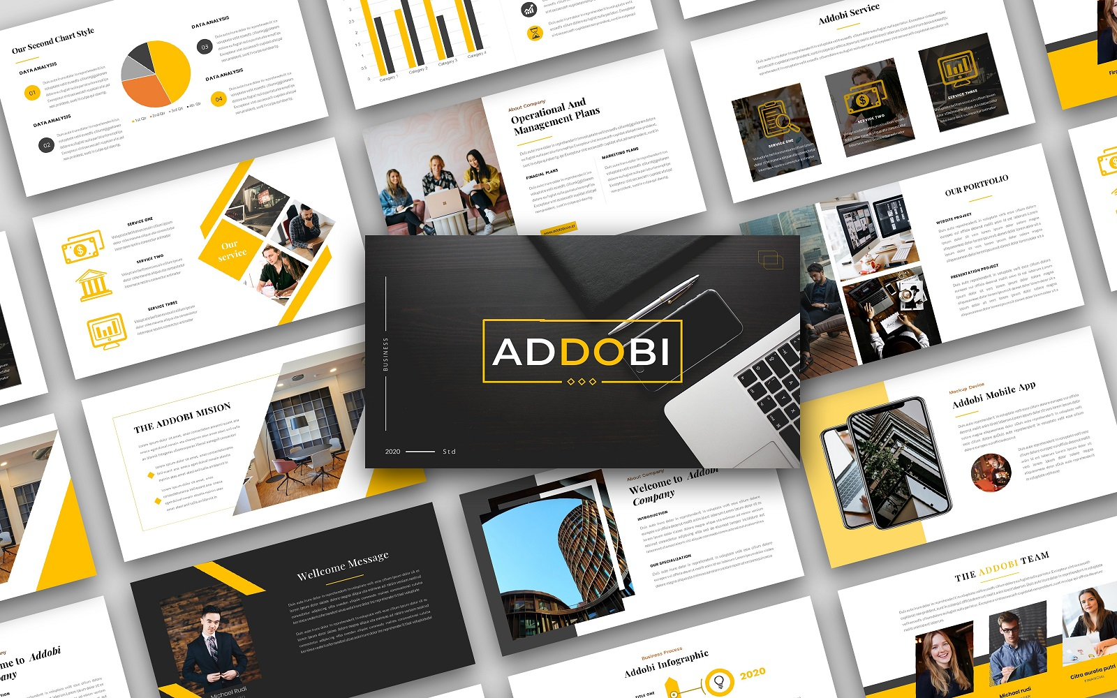 Addobi – Creative Business  Presentation PowerPoint template