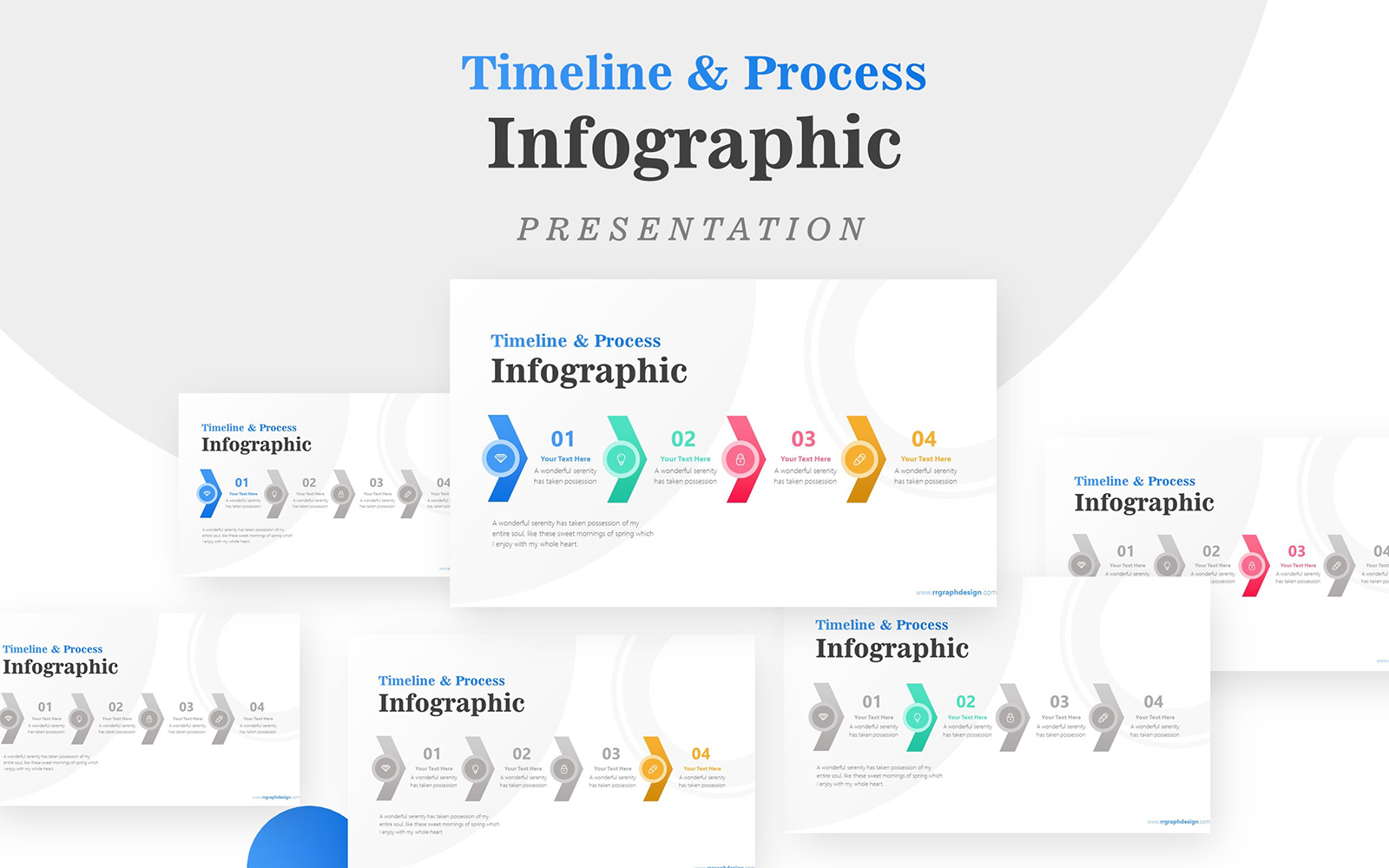 Four Business Process Infographic Presentation PowerPoint Template