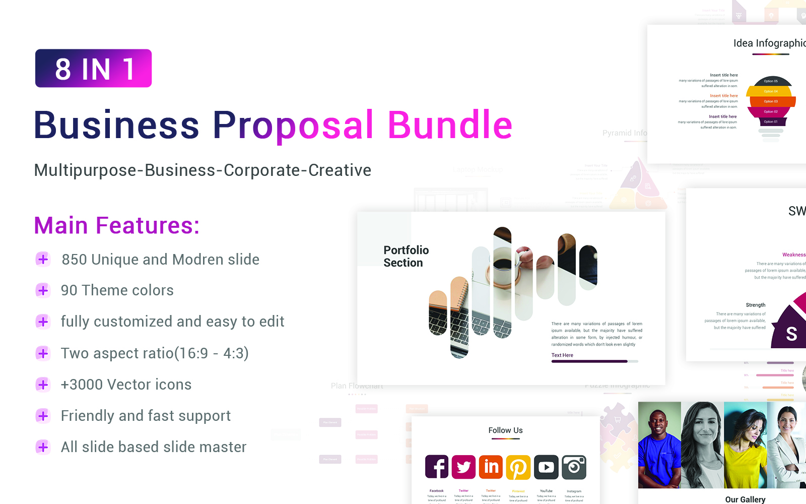 Business Proposal Bundle PowerPoint template