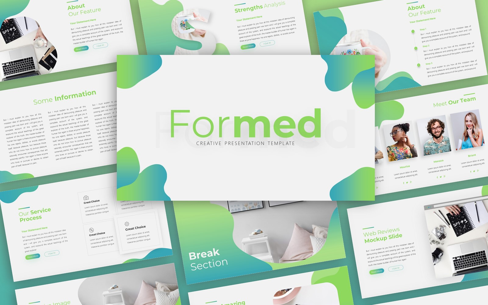 Formed Creative Presentation PowerPoint Template