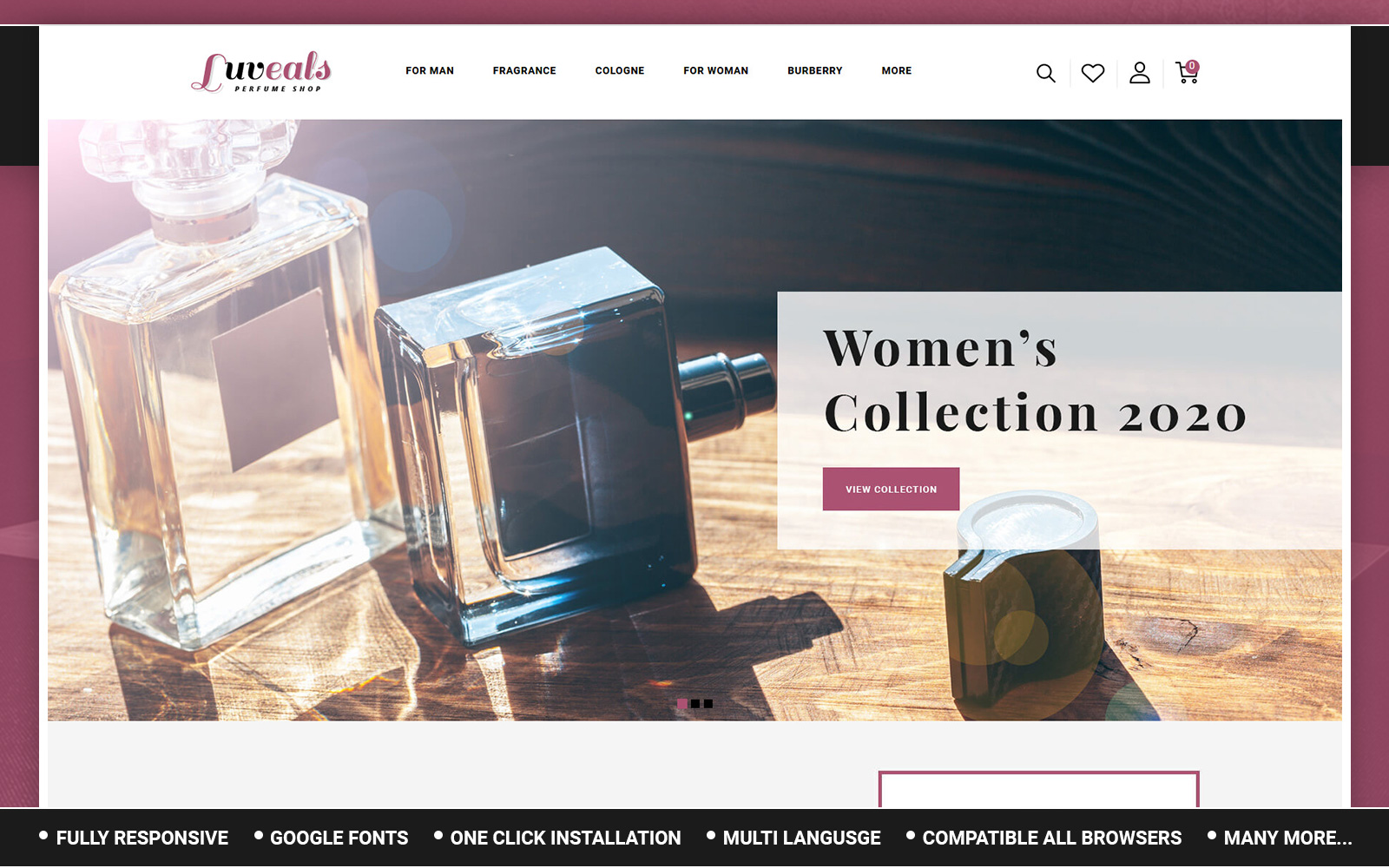 Luveals - Perfume Store OpenCart Template