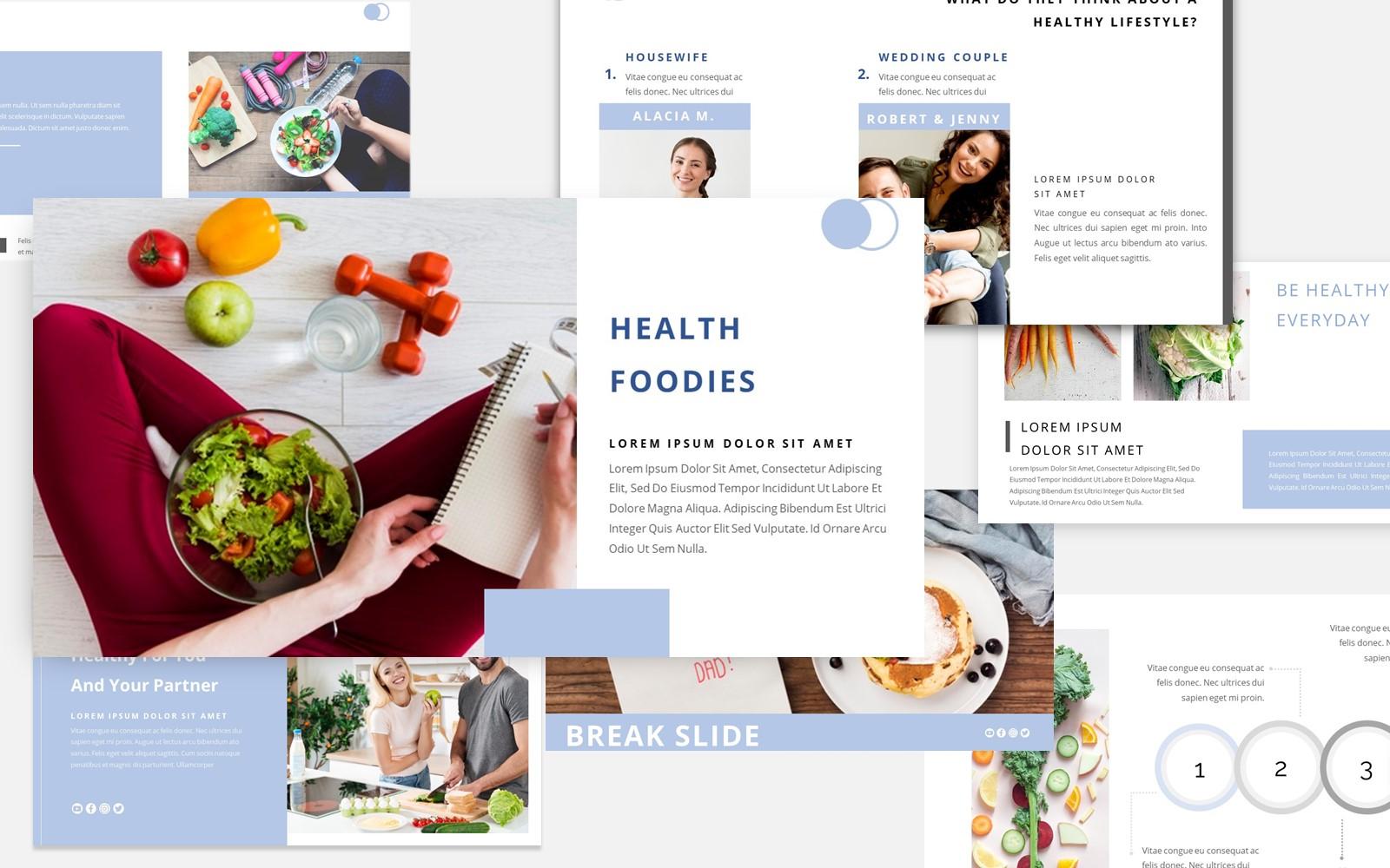 Healthy Foodies PowerPoint Template