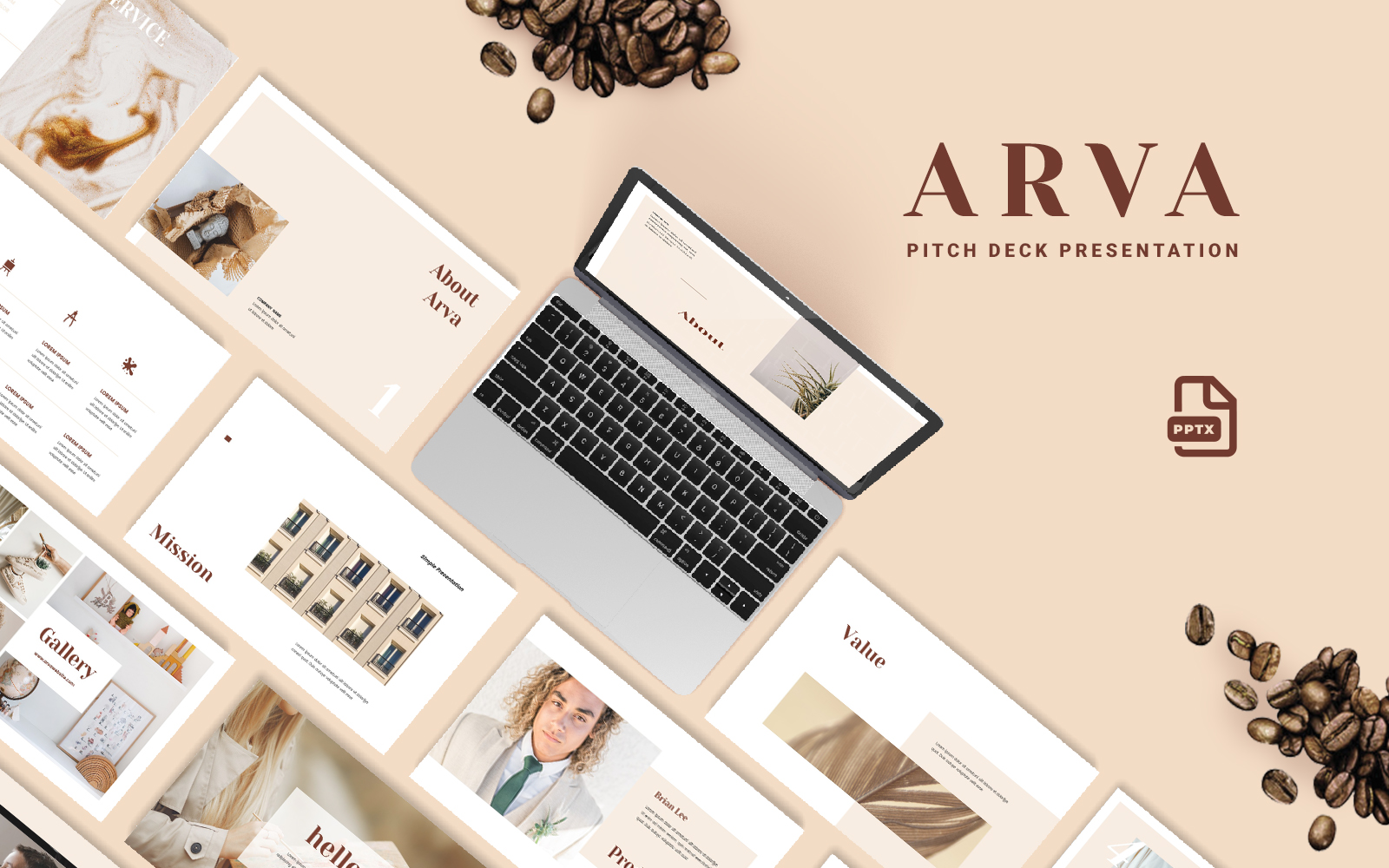 Creative Pitch Deck - Creative Presentation PowerPoint Template