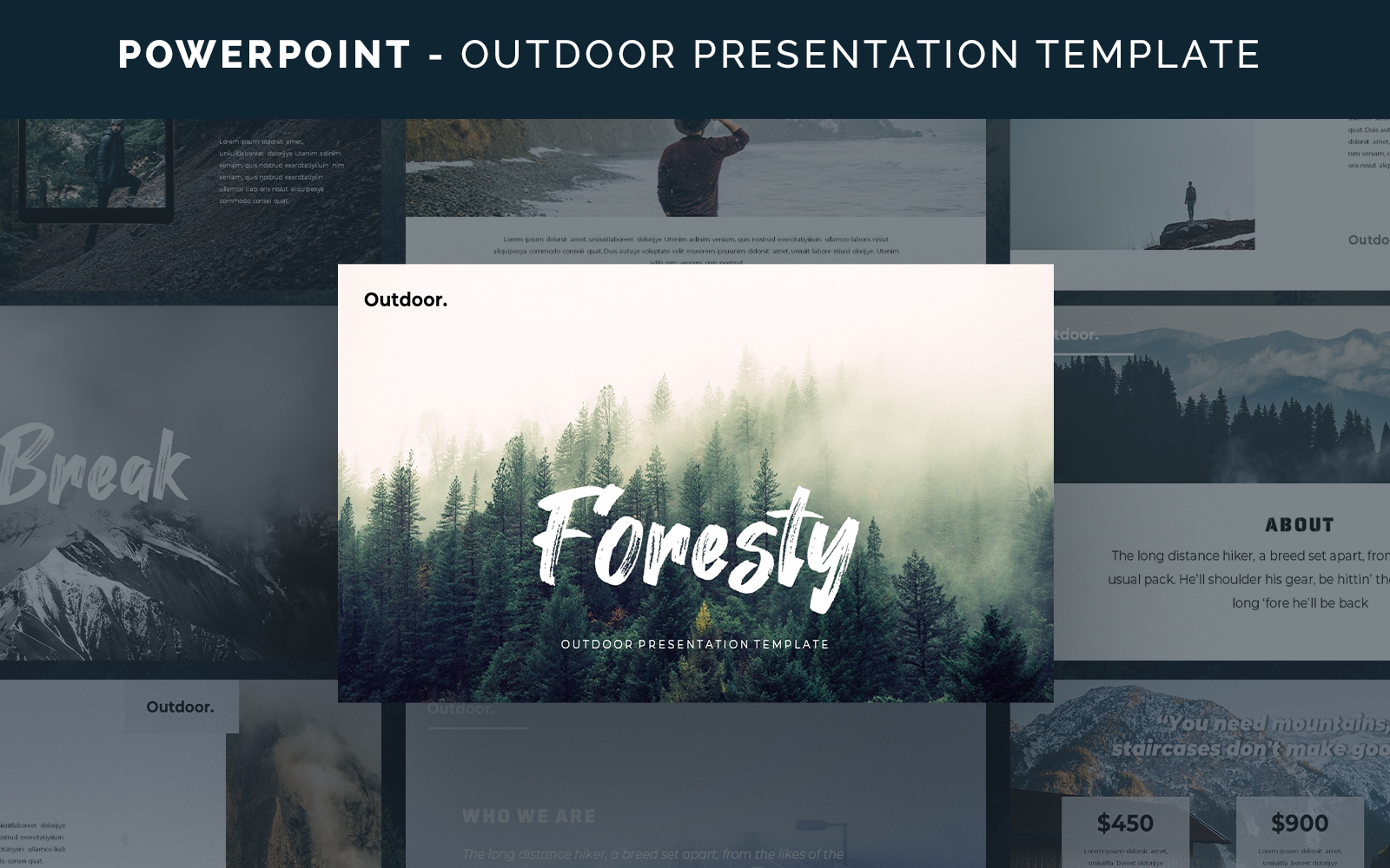 Foresty - Outdoor PowerPoint Template