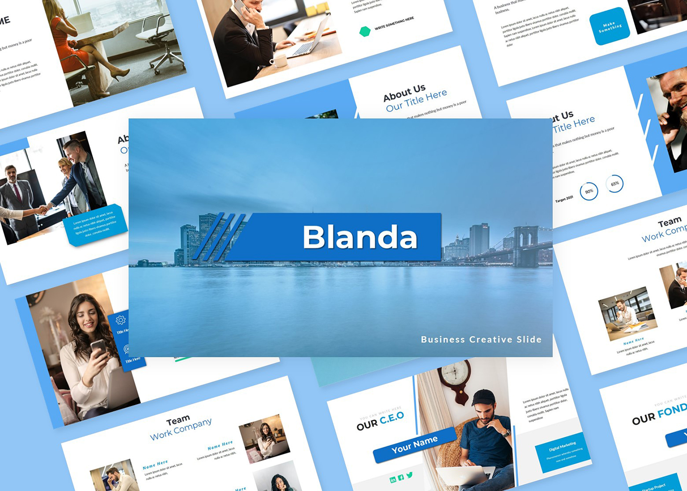 Blanda Business Creative Slide PowerPoint Template