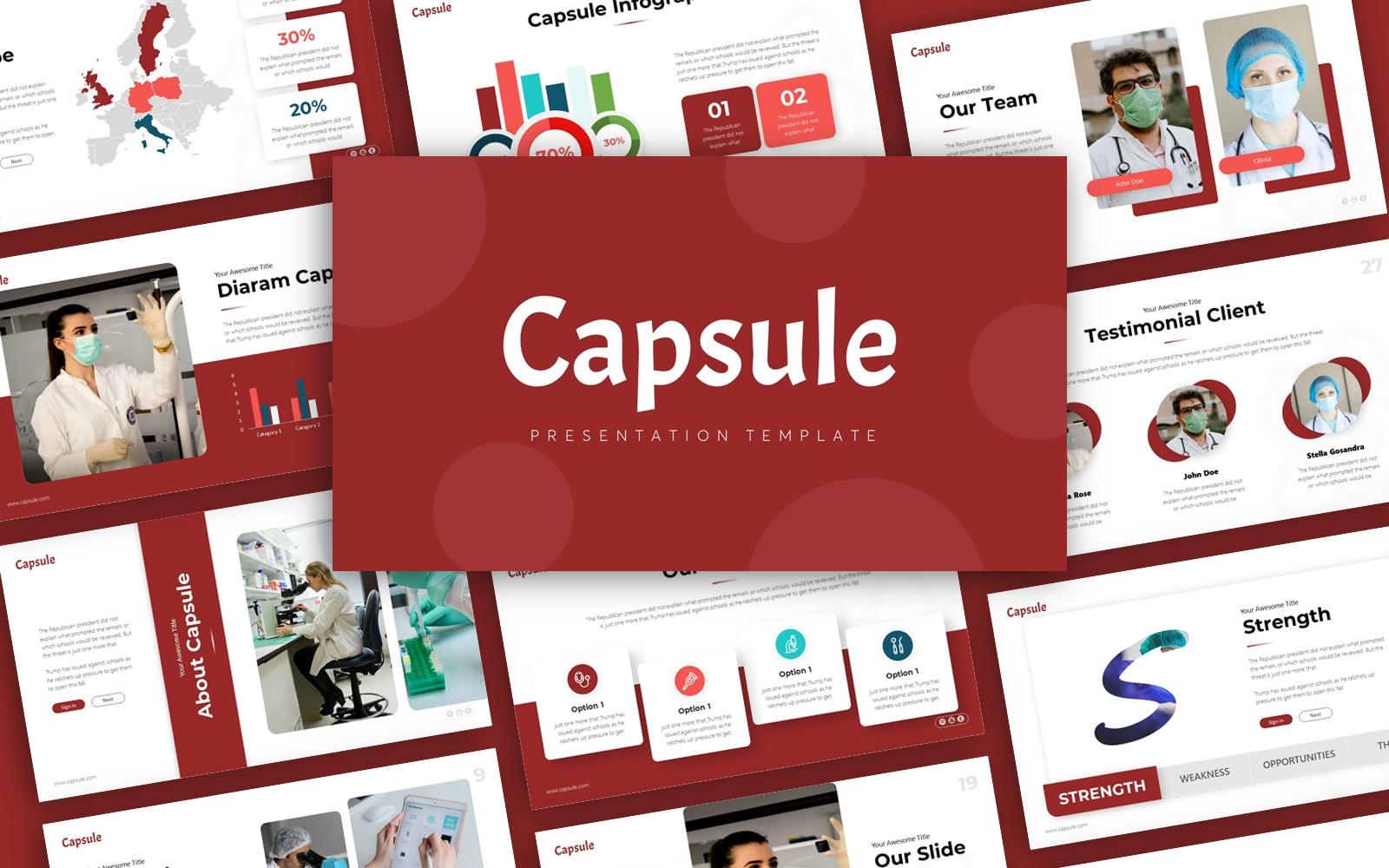 Capsule Medical Presentation PowerPoint Template