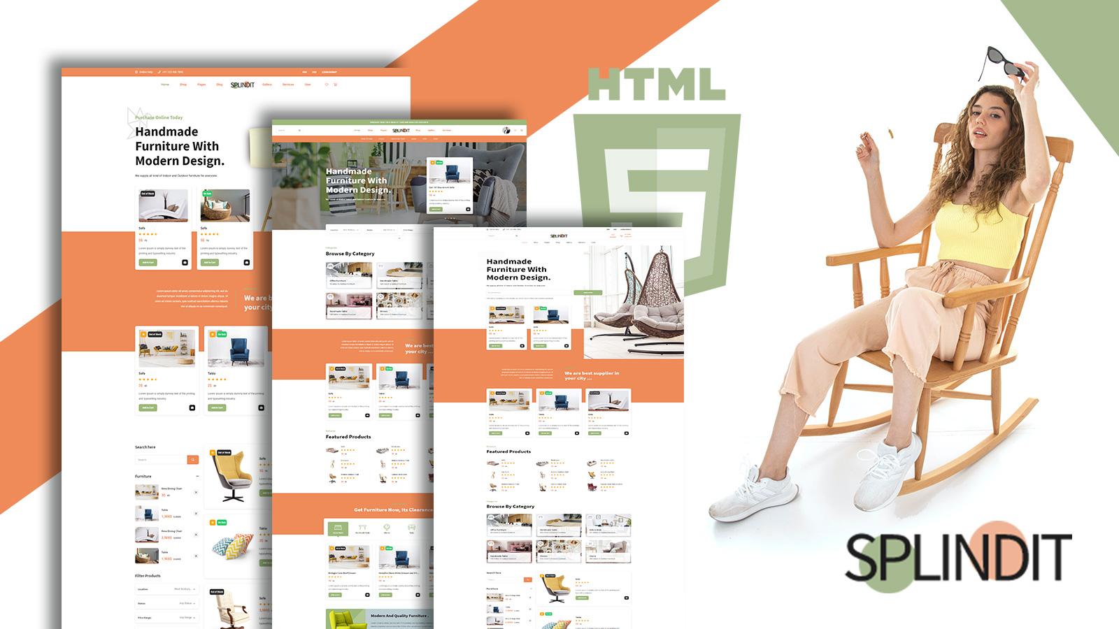 Splindit - Furniture Shop Website Template