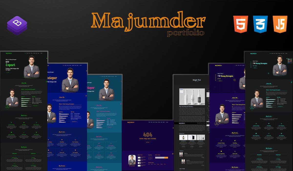 MAJUMDER-2 Portfolio Landing Page Template
