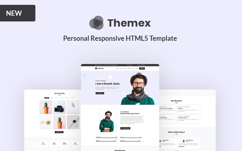 Themex - Personal Responsive Landing Page Template