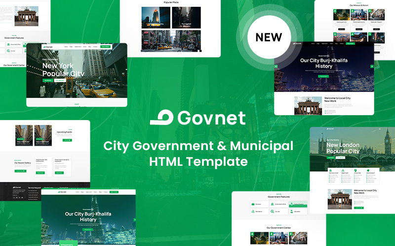 Govnet -  City Government and Municipal Website Template
