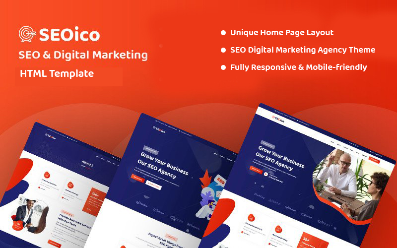 Seoico - SEO & Digital Marketing Website Template