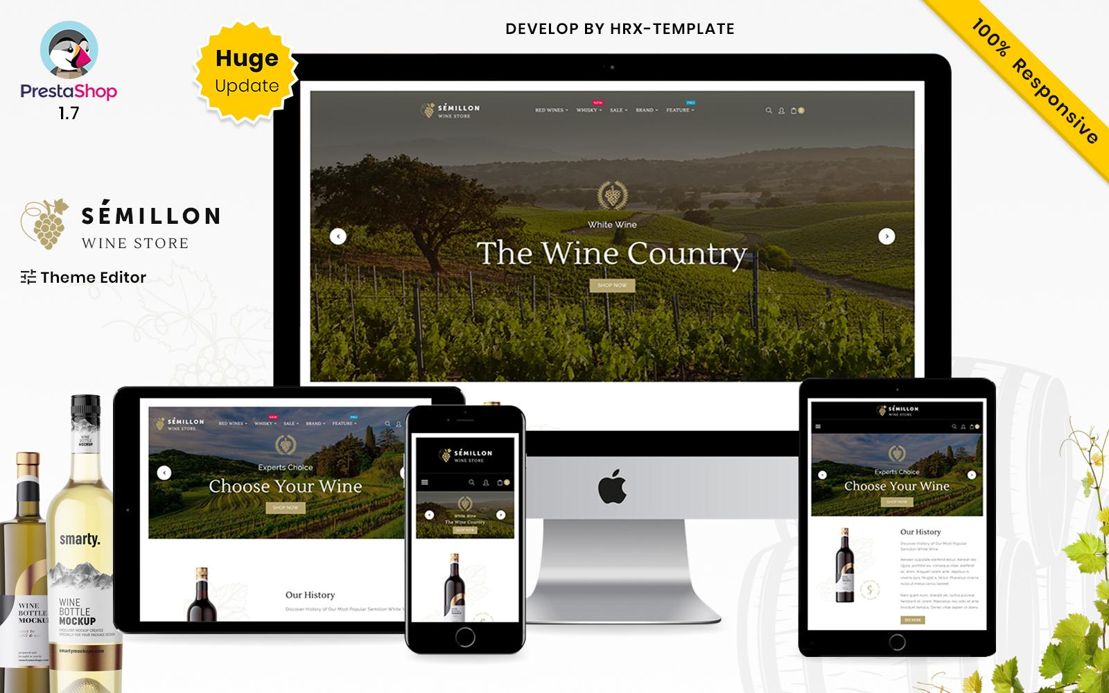 Semillon Wine And Alcohol Store PrestaShop Theme