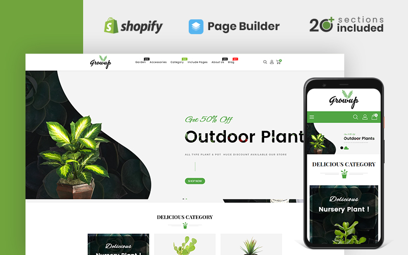 Growup - Organic Garden Store Shopify Theme