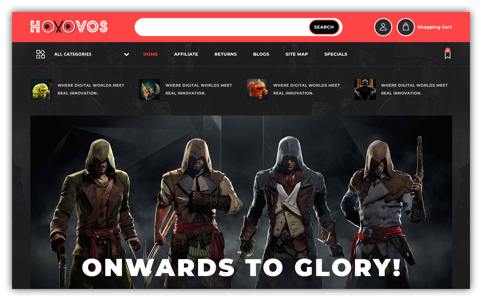 Hoxovos - Game Store OpenCart Template