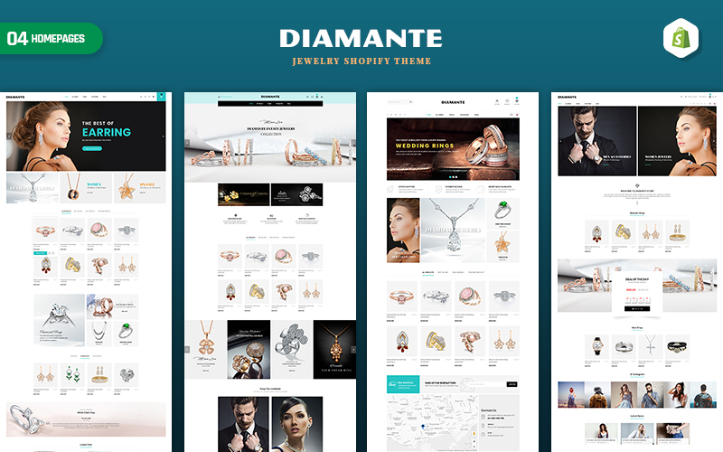 Diamante - Jewelry & Accessories Shopify Theme