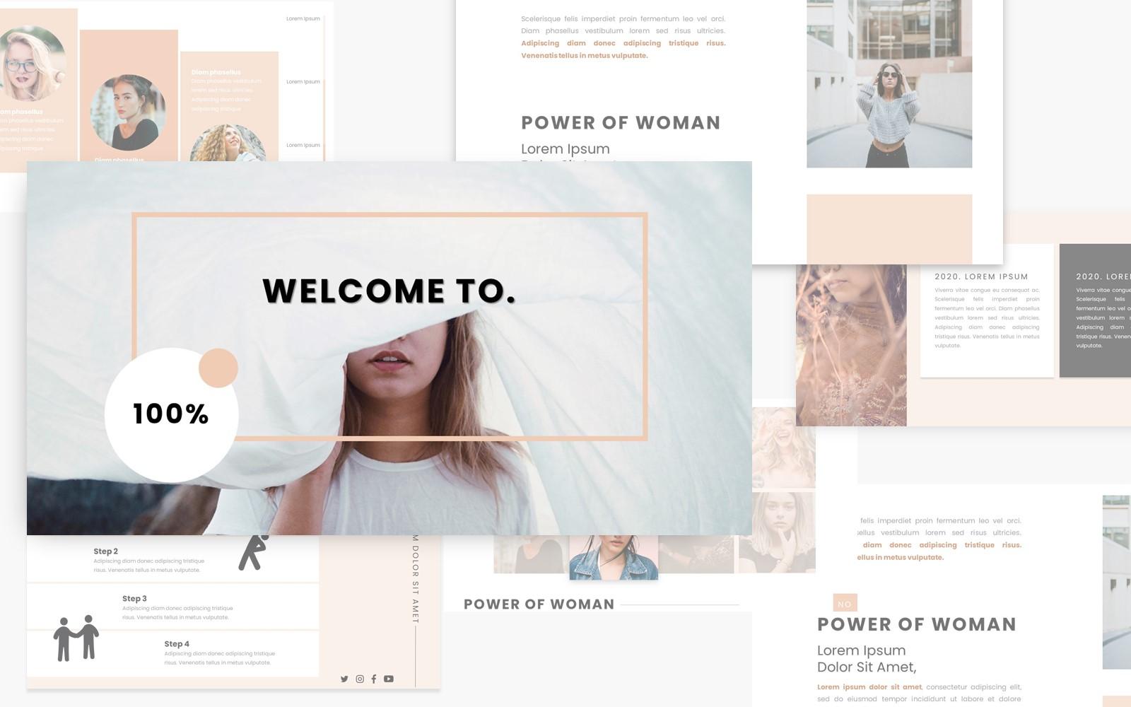 Feminime Woman PowerPoint Template