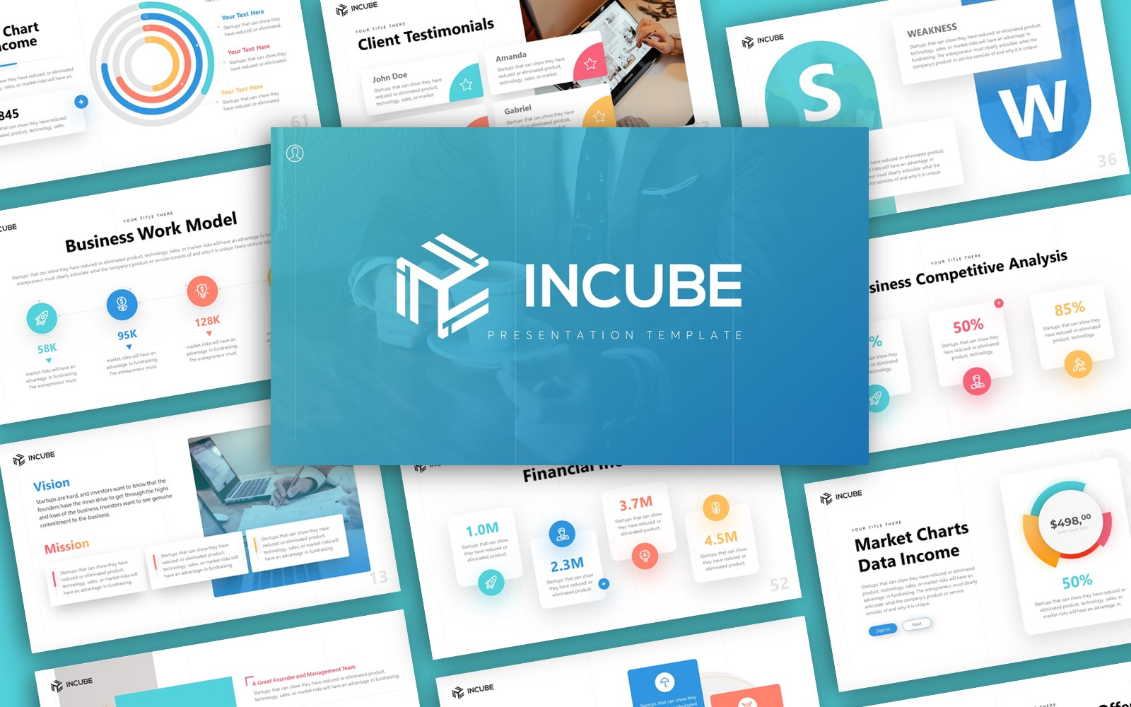 Incube Startup Presentation PowerPoint Template
