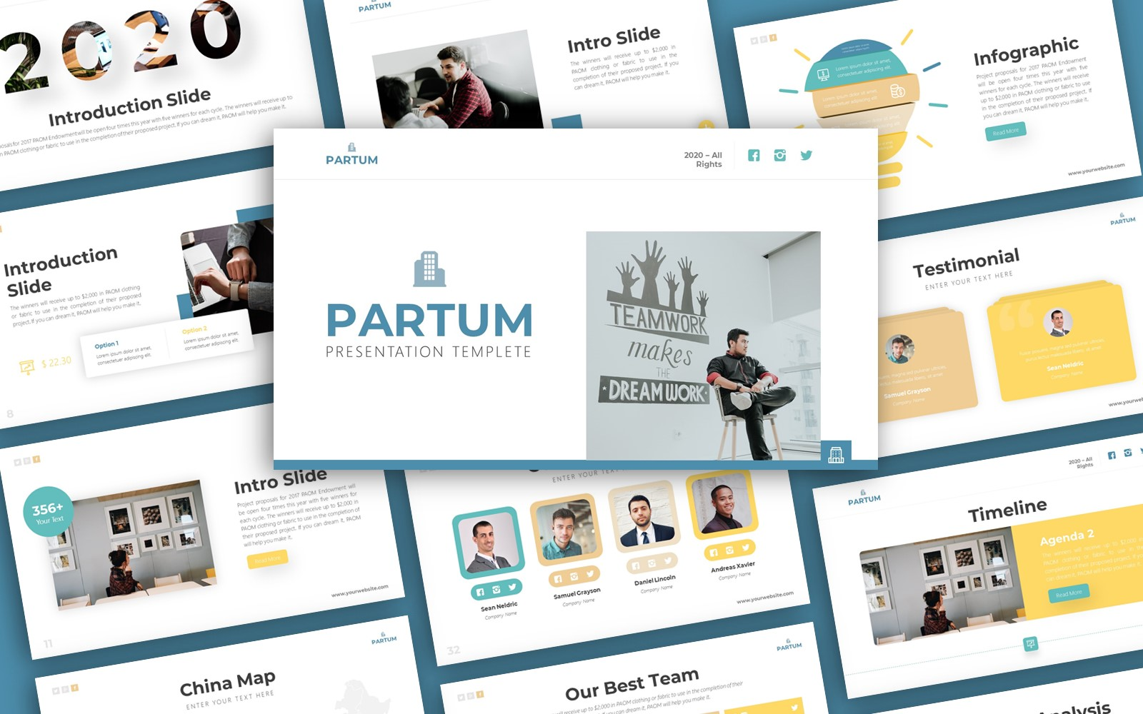 Partum Business Presentation PowerPoint template