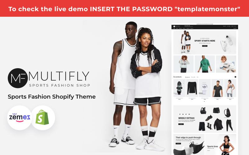 Multilfy Sports Fashion Store Shopify Theme