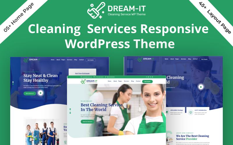 DreamIT- Cleaning Service WordPress Theme