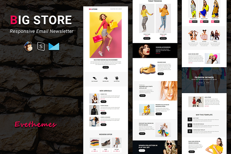 Big Store - Responsive Email Newsletter Template