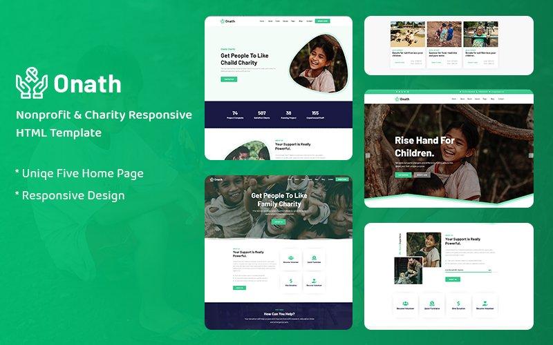 Onath - Nonprofit Charity Responsive
