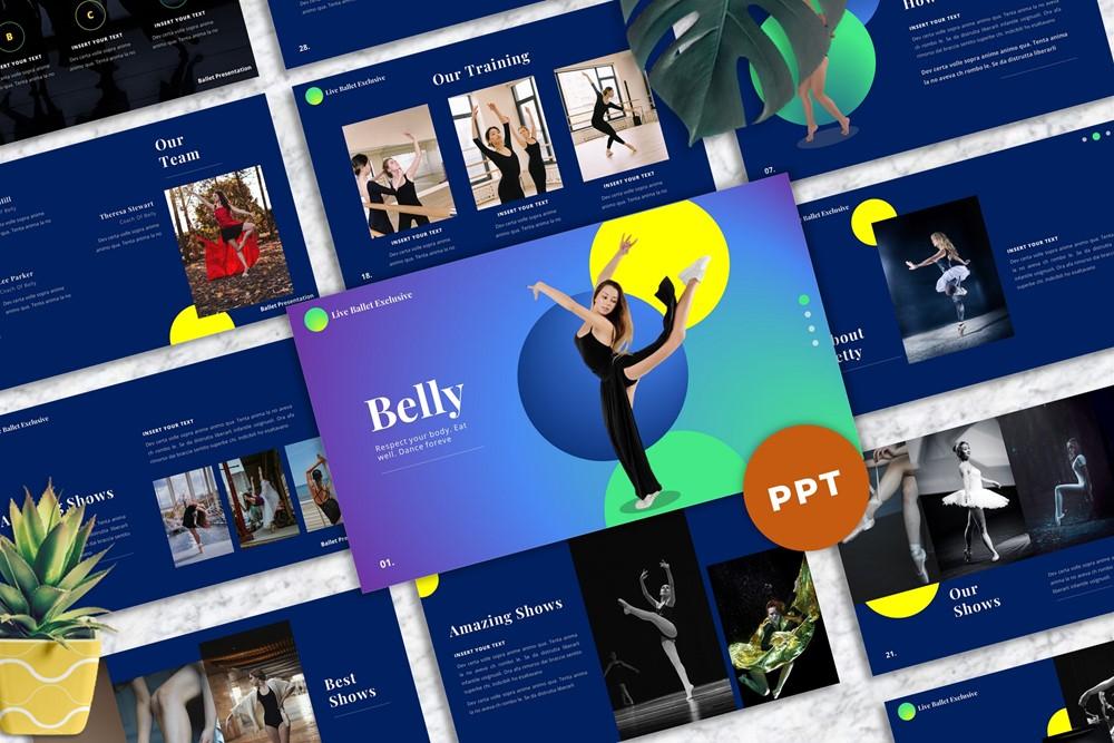 Belly - Ballet PowerPoint Template