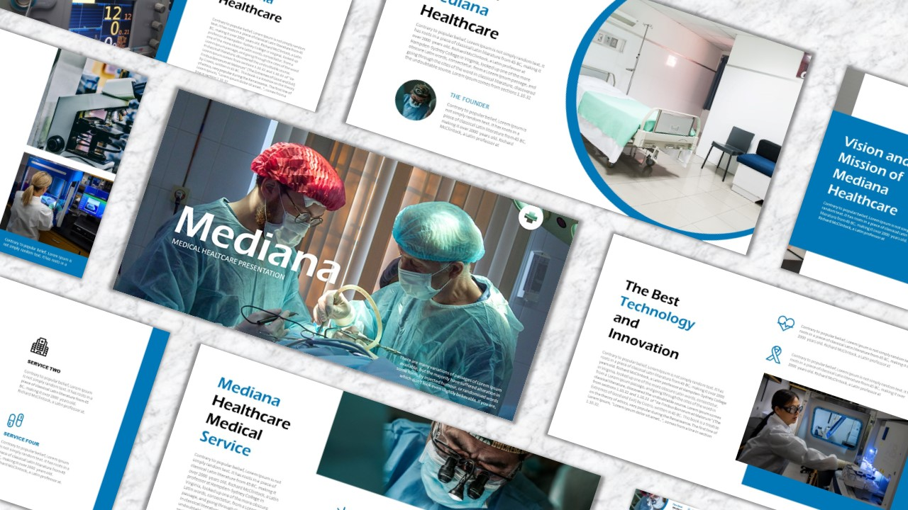 Mediana PowerPoint template