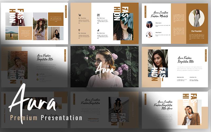 Aura Creative Fashion PowerPoint Template