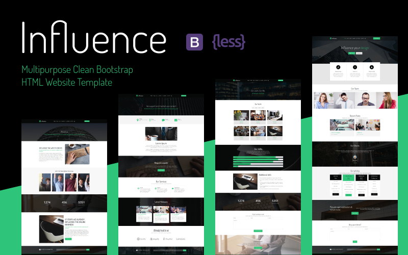 Influence -  Multipurpose Clean Bootstrap HTML Website Template