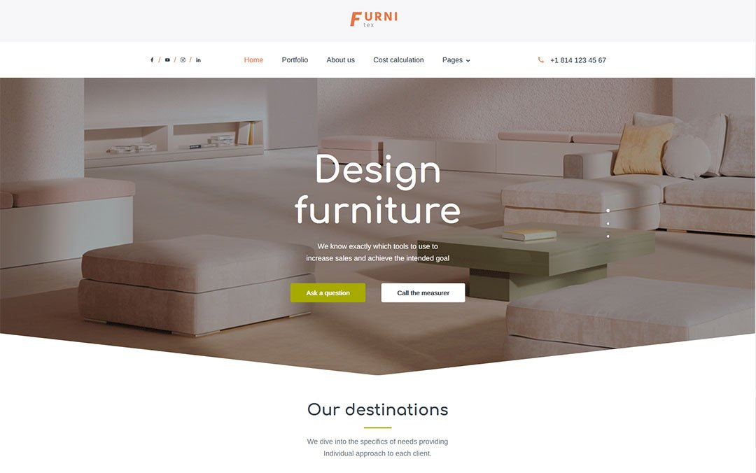 Furnitex - furniture design and manufacturer WordPress Theme