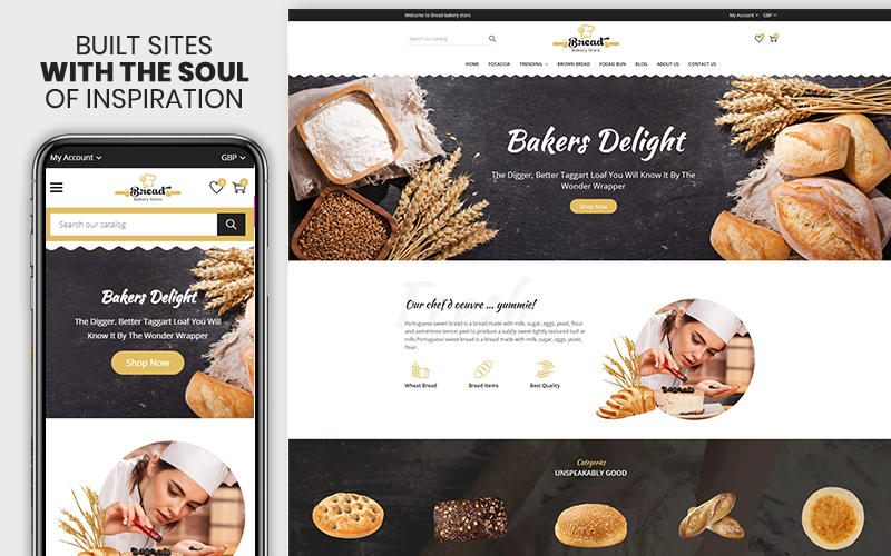 Bread Bakery - The Bread & Bakery Food Premium Shopify Theme