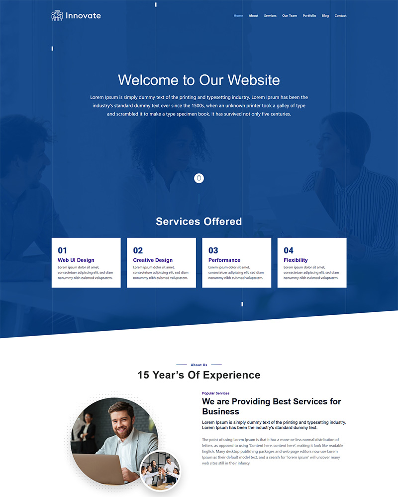 Innovate Landing Page Template