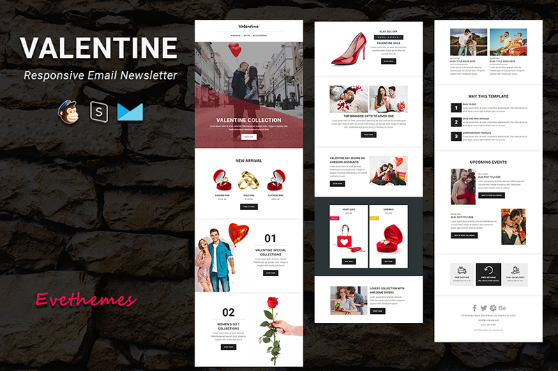 Valentine - Responsive Email Newsletter Template