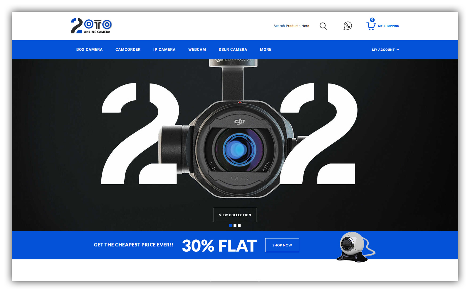 20TO - Camera Store OpenCart Template