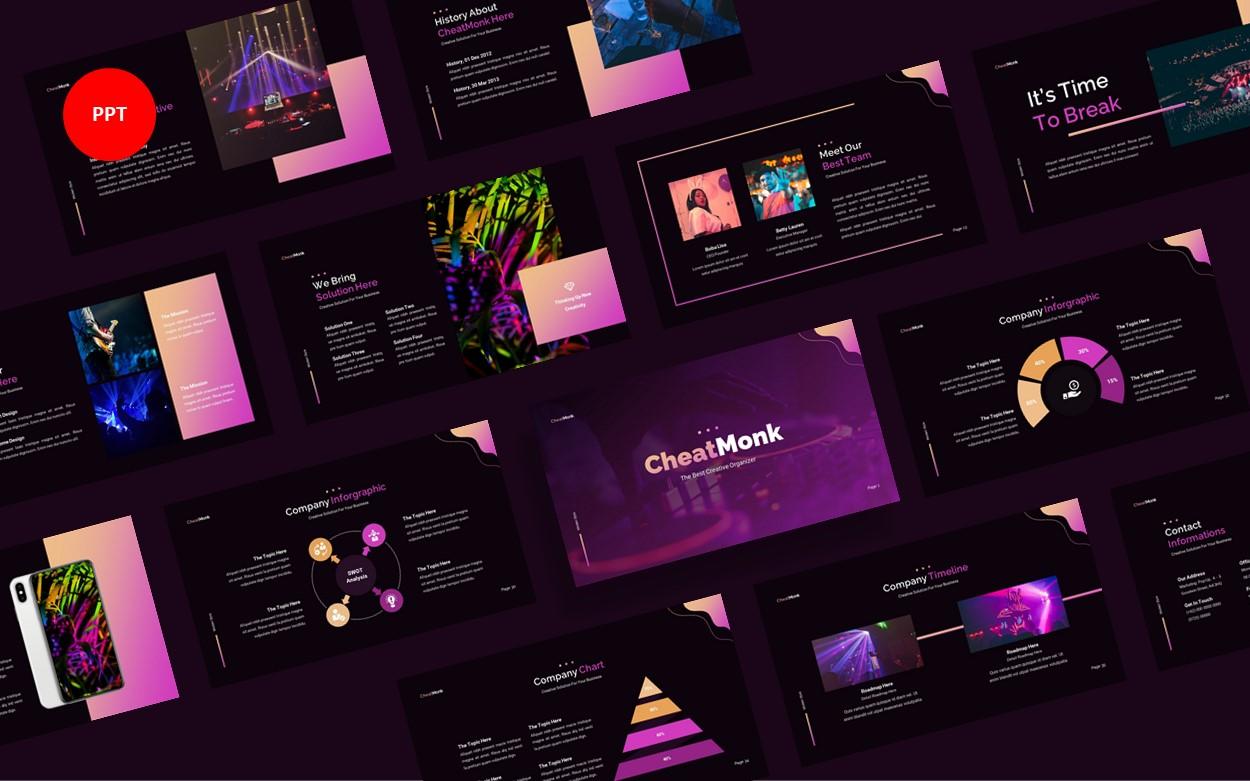 CheatMonk Creative Business PowerPoint Template
