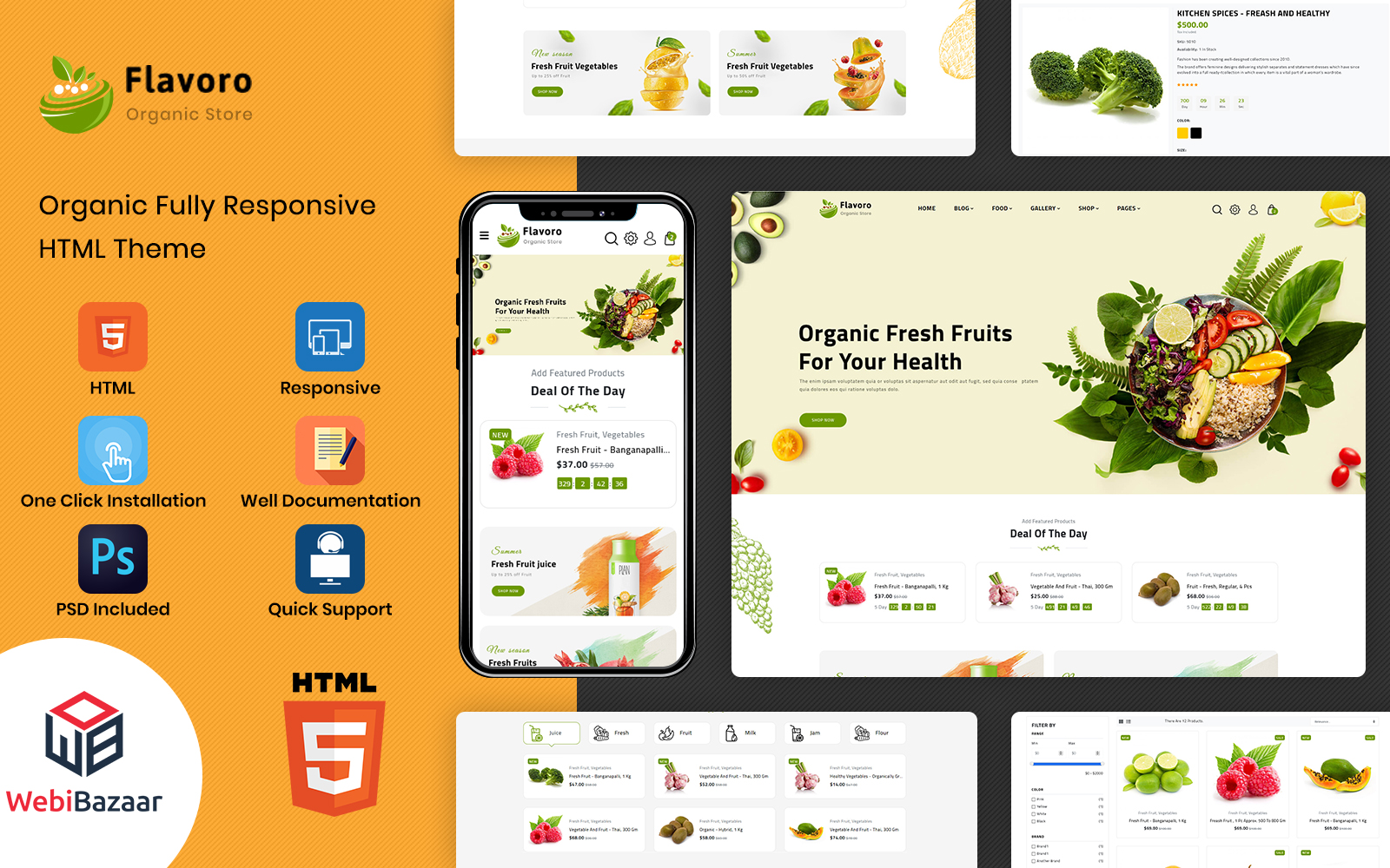 Flavoro - HTML5 Multipurpose eCommerce Website Template