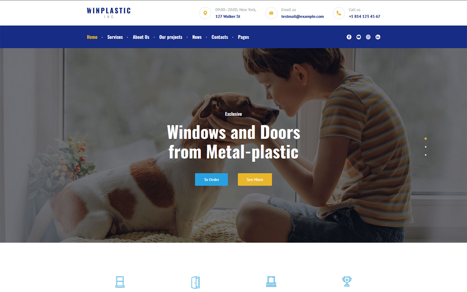 Winplastic - plastic windows installation & replacement WordPress Theme