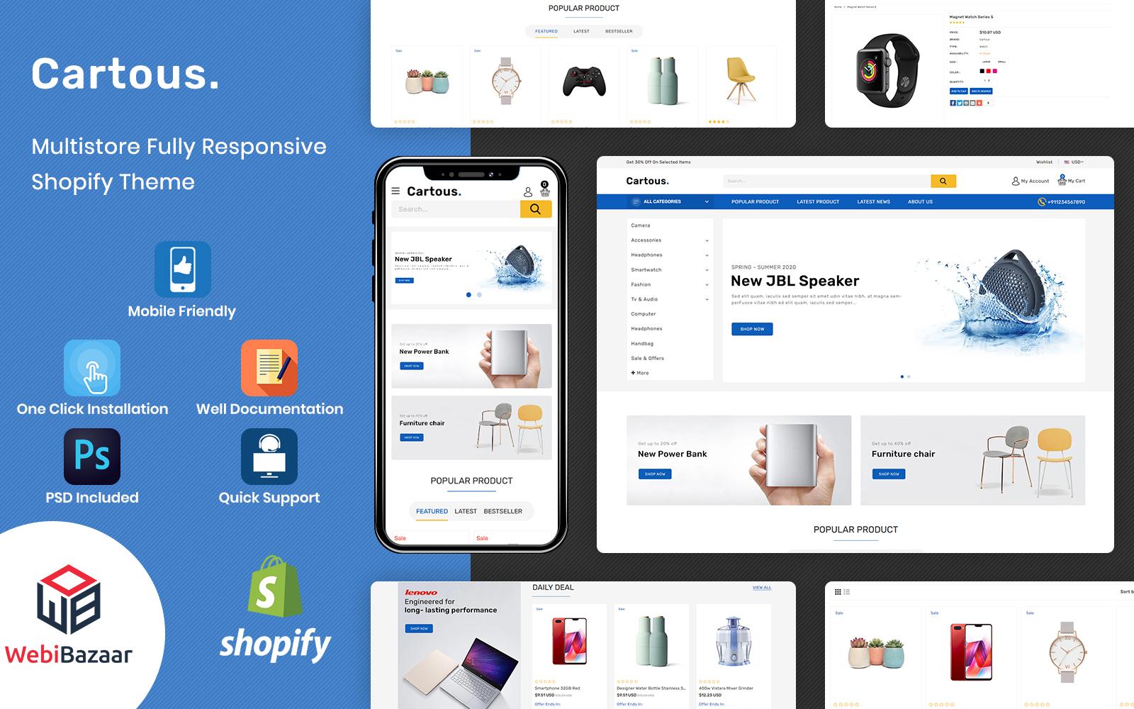 Cartous - Minimal Modern Multipurpose Shopify Theme