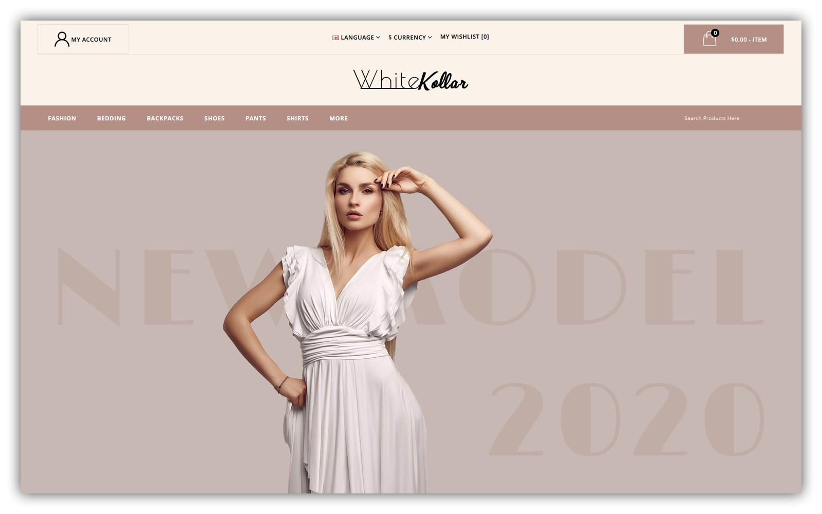 Whitekollar - Fashion Store OpenCart Template